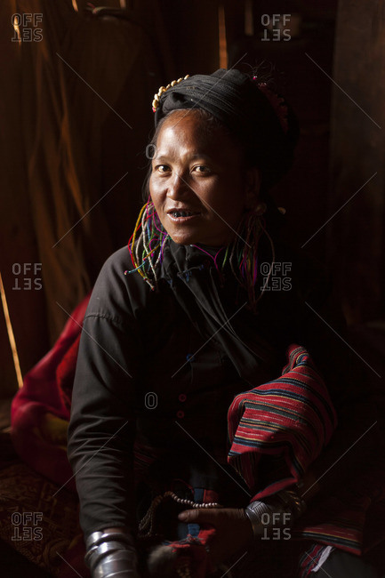 - February 12, 2013: Woman of the Ann tribe with blackened teeth, Golden Triangle, Myanmar (Burma)