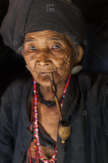 - February 14, 2013: Woman of the Ann tribe, Golden Triangle, Myanmar, (Burma)