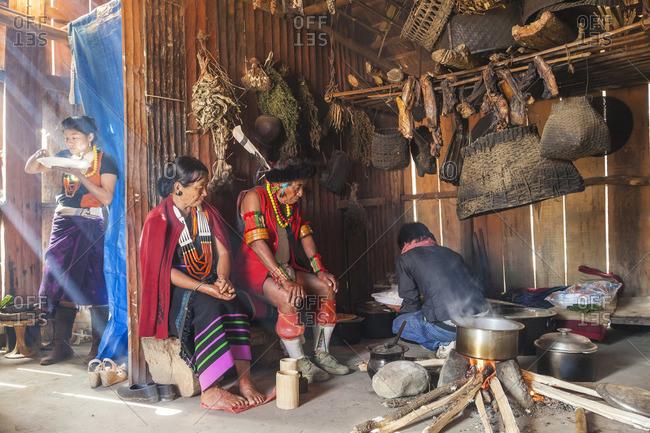 - December 4, 2012: Chakhesang couple in kitchen, Nagaland, NE India