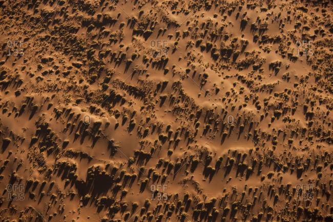 Aerial view over Namib Desert, Namibia