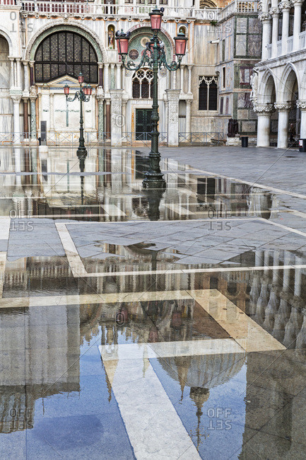 Floodwaters on St Mark's Square