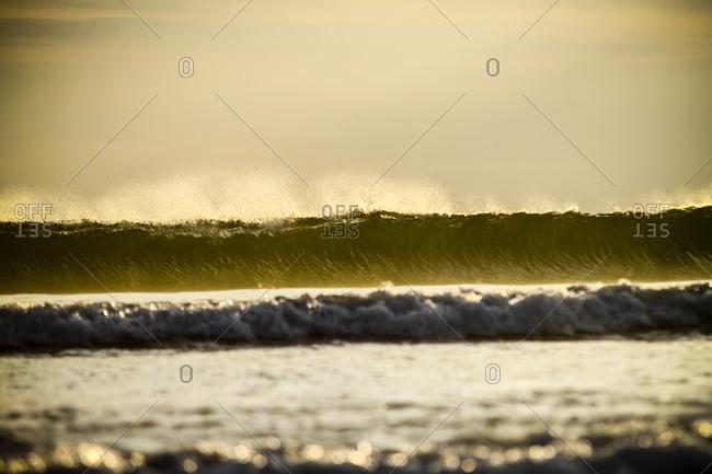Waves at Kuta beach