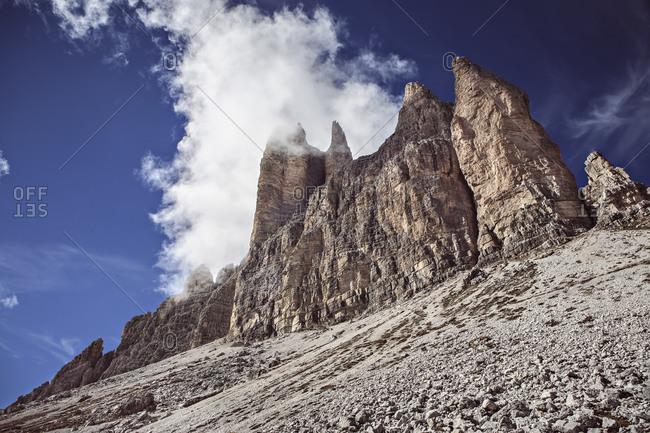 Clouds at Tre Cime di Lavaredo