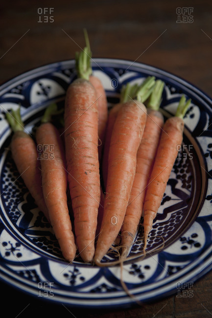 Close up of carrots on a plate