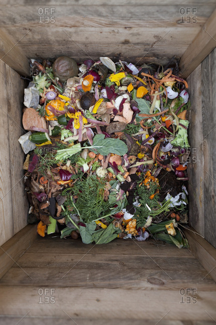 Top view of a compost bin