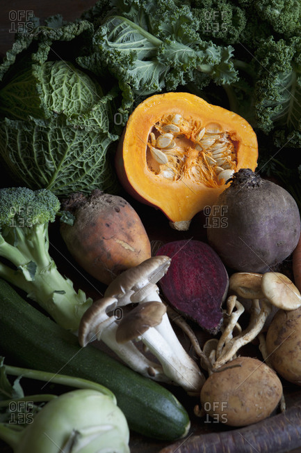 Selection of autumn vegetables