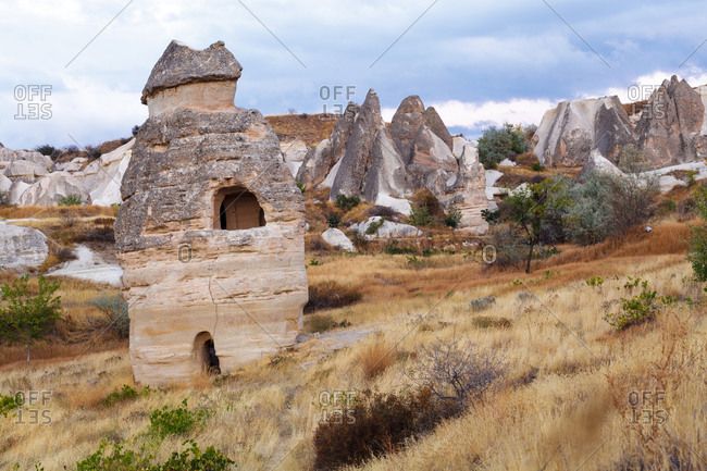 Landscape in Zemi valley, Cappadocia, Turkey
