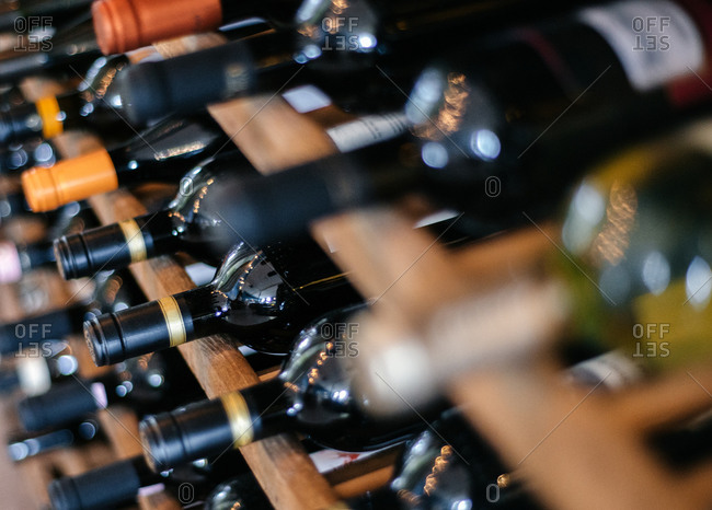Full wine rack