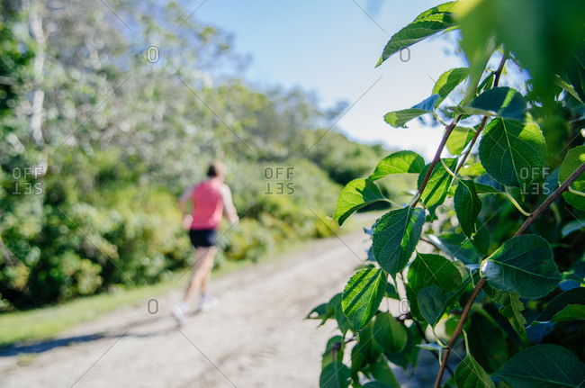 Runner on the back roads