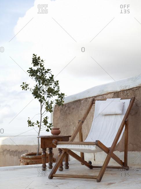 Sun chair on patio