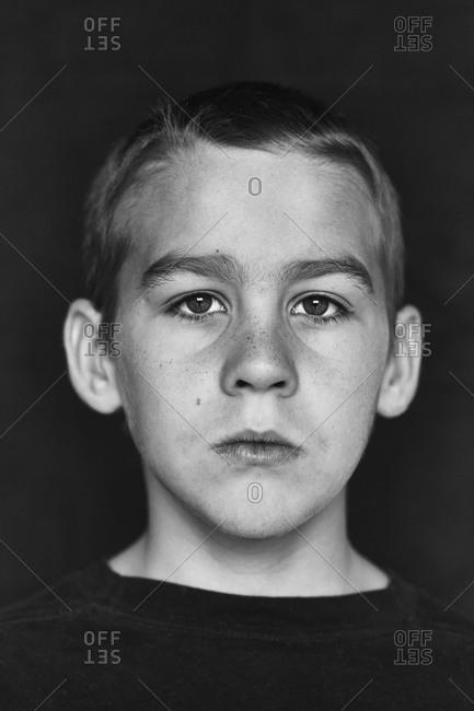 Portrait of boy, studio shot