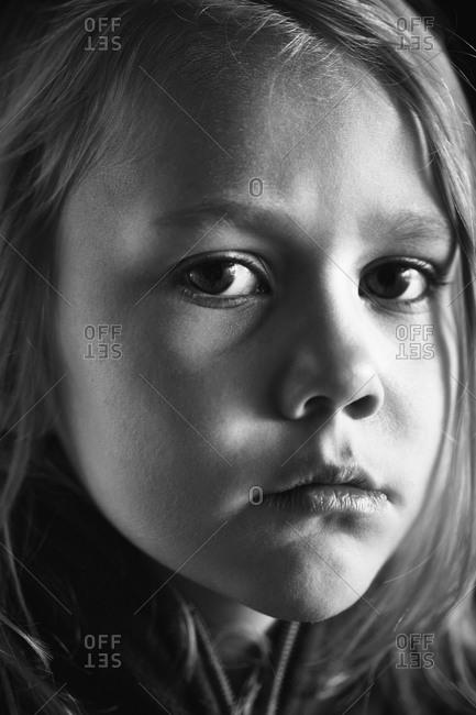 Portrait of girl, studio shot