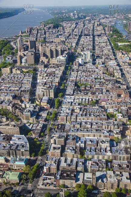 Aerlian view of Harlem, New York City, USA