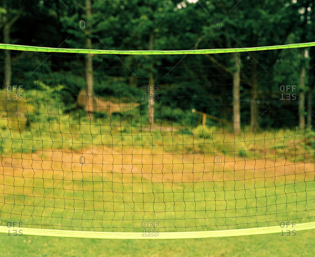 Close-up of badminton net, Bohuslan, Sweden