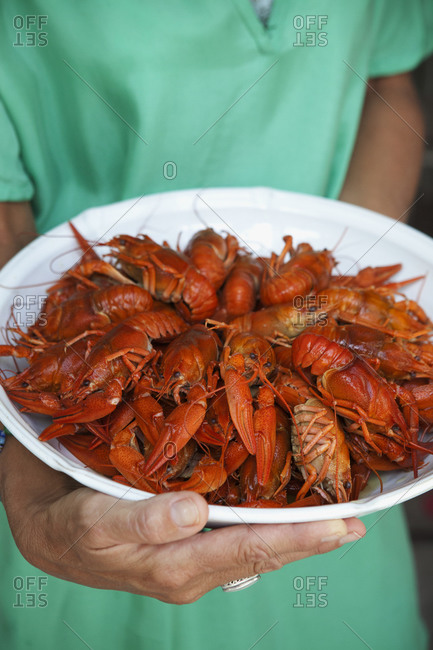 Crayfish on a dish