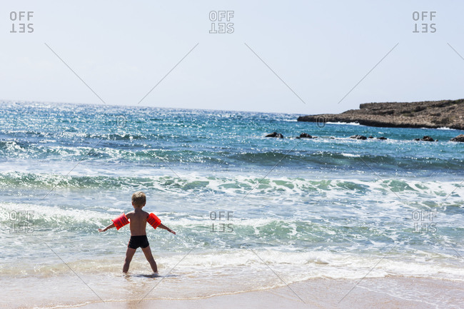 Boy on beach, Cyprus