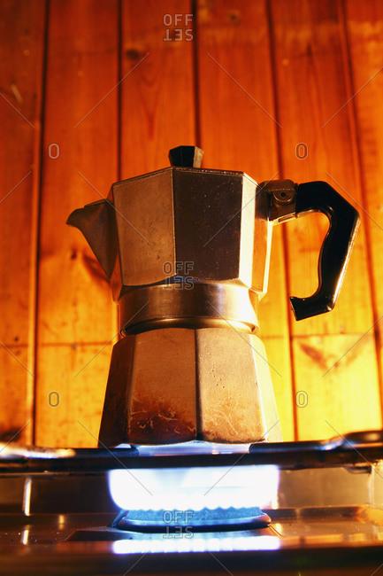 Coffee maker on gas, Sweden