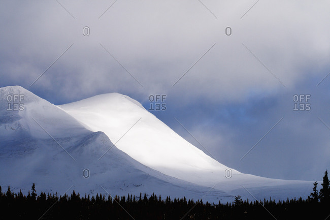 Winter mountains, Vasterbotten, Lapland, Sweden