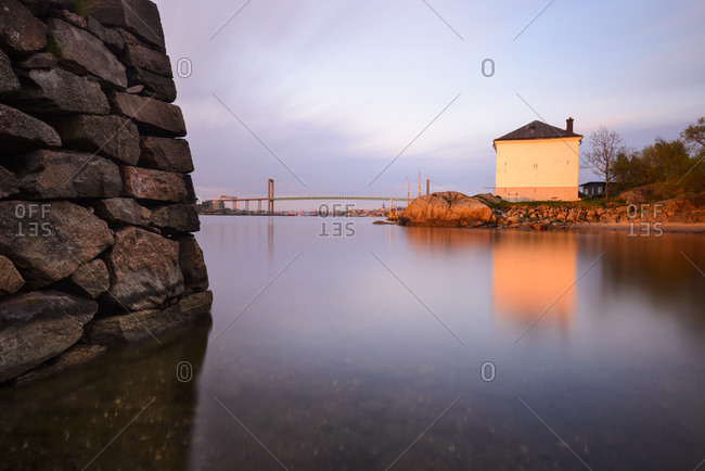 Alvsborg bridge at dusk, Gothenburg, Sweden