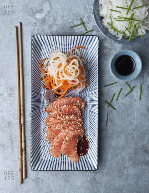 Salmon in Japanese style