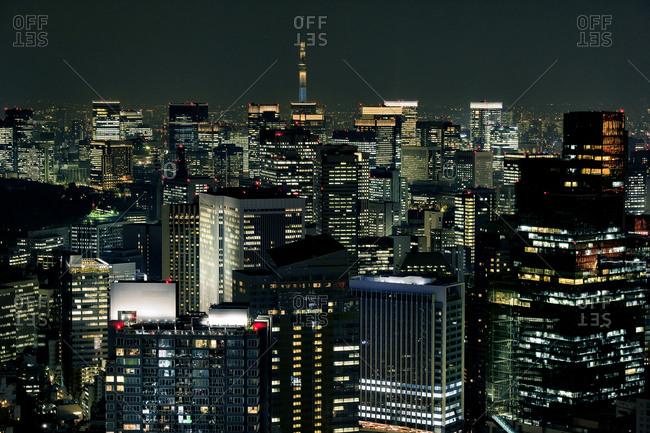 Downtown at night, Tokyo, Japan