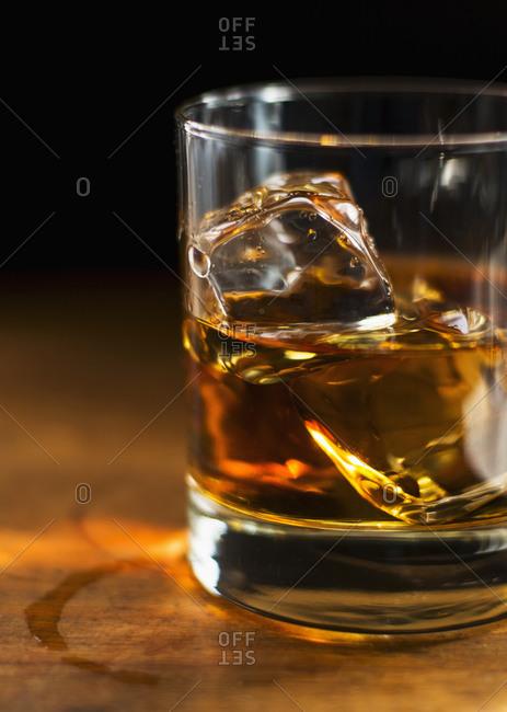 Studio shot of whisky