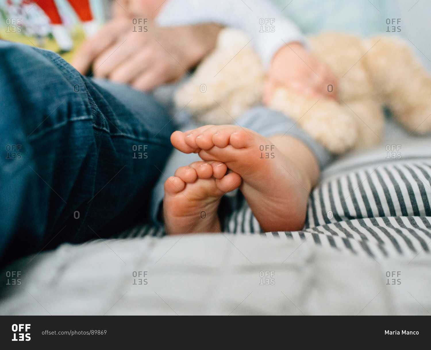 little girls toes crossed stock photo - offset