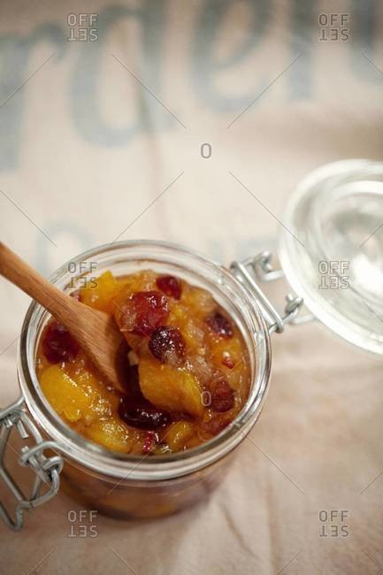 Mango and ginger chutney