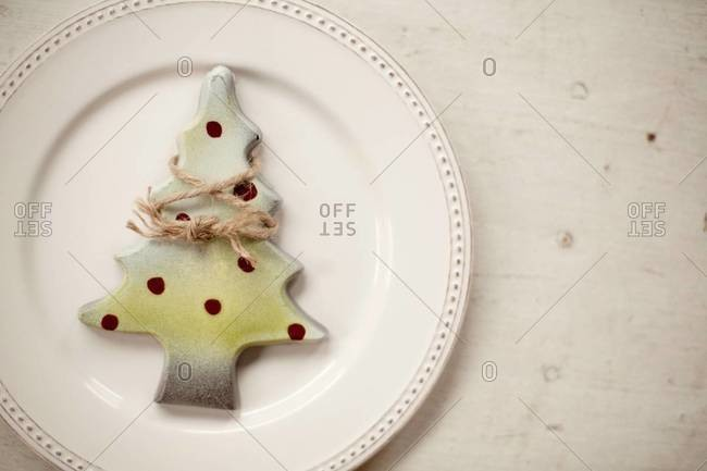 Christmas decoration on a plate