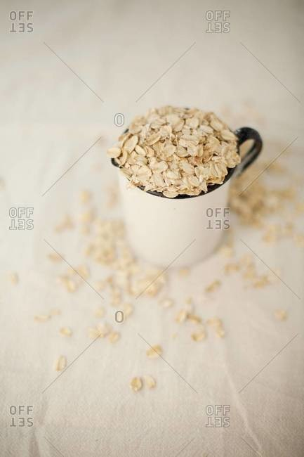 Close up of a cup of oats