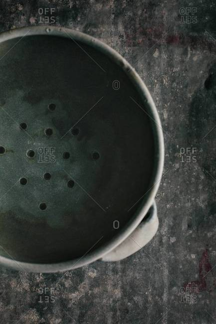 Top view of colander