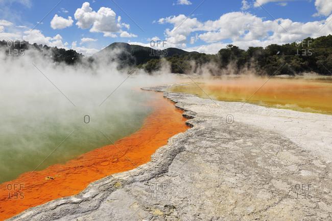 Champagne pool, Wai-O-Tapu Thermal Wonderland, Bay of Plenty, North Island, New Zealand