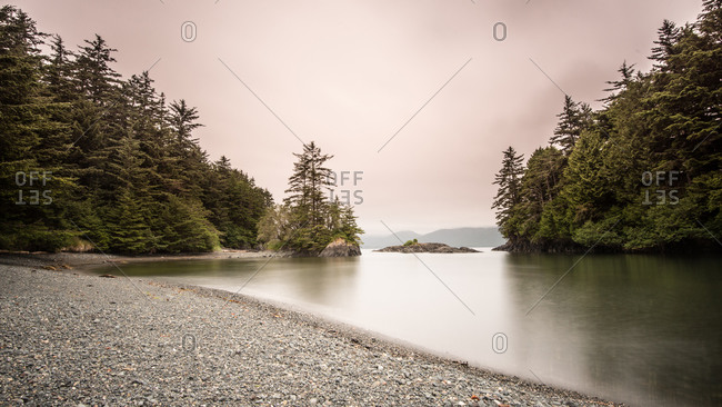 Quiet bay on the Queen Charlotte Islands, Canada
