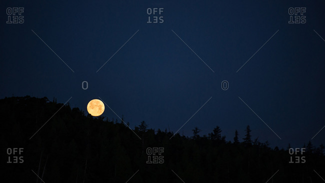Full moon at the Gwaii Haanas National Park, Canada