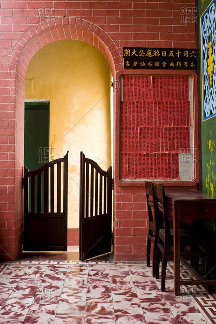 Interior of a building in Vietnam