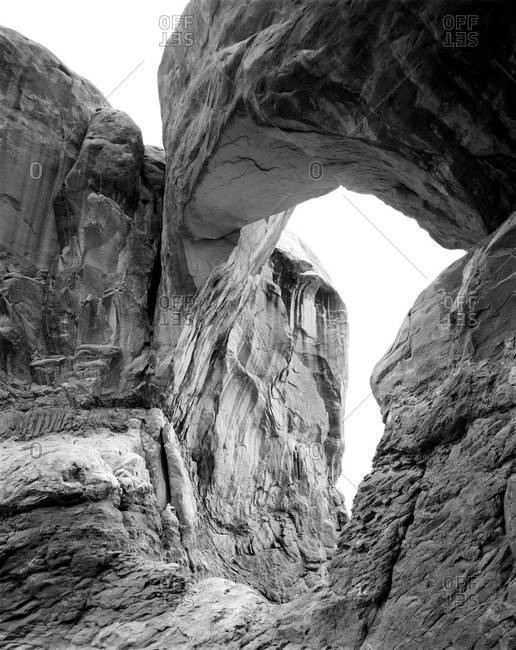 One of the arches of the Double Arch, Utah