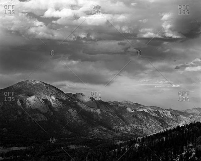View over mountains at the Rocky Mountain National Park
