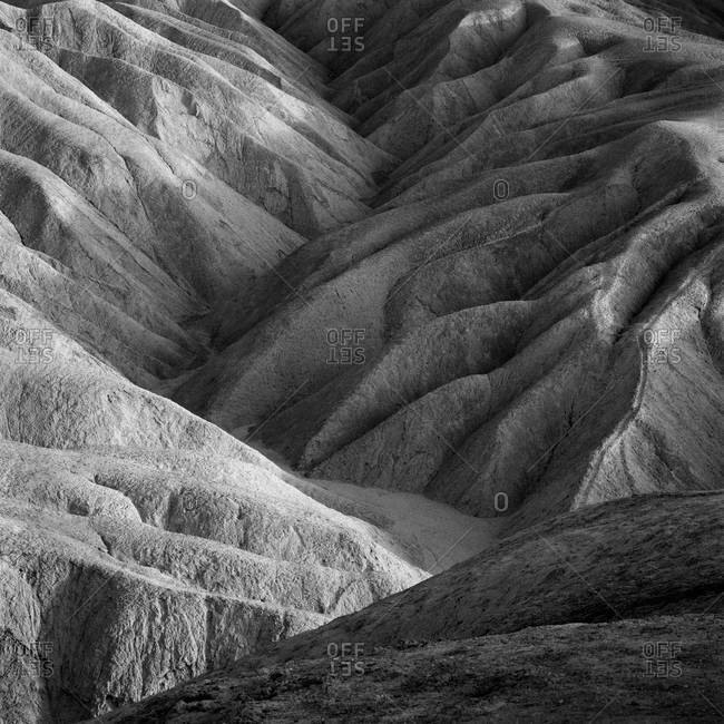 Rock formations at Zabriskie Point in Death Valley National Park