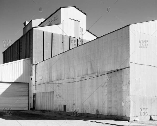 Exterior of an industrial building