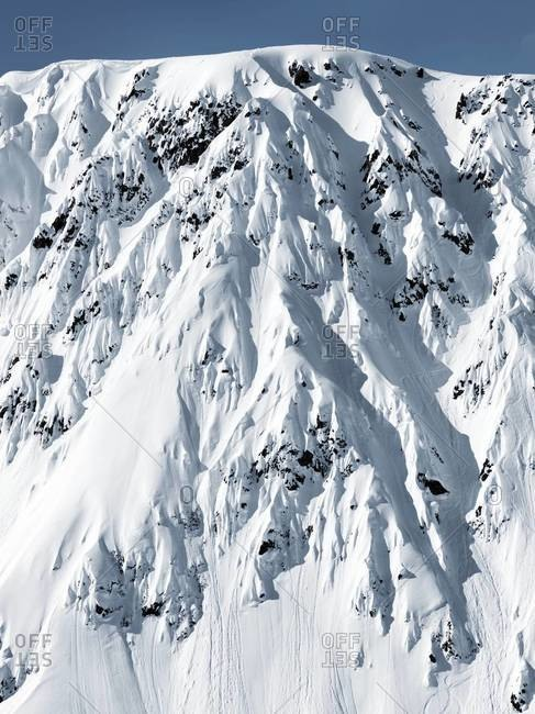 Snow-covered mountain in Alaska