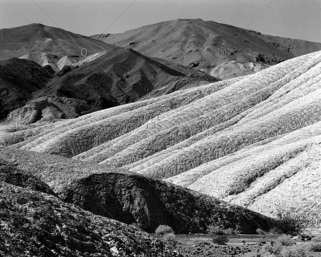 Rock formations in Death Valley, California