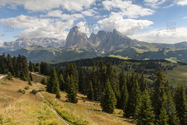 Italy, South Tyrol, Dolomites, Langkofel group, Seiser Alm