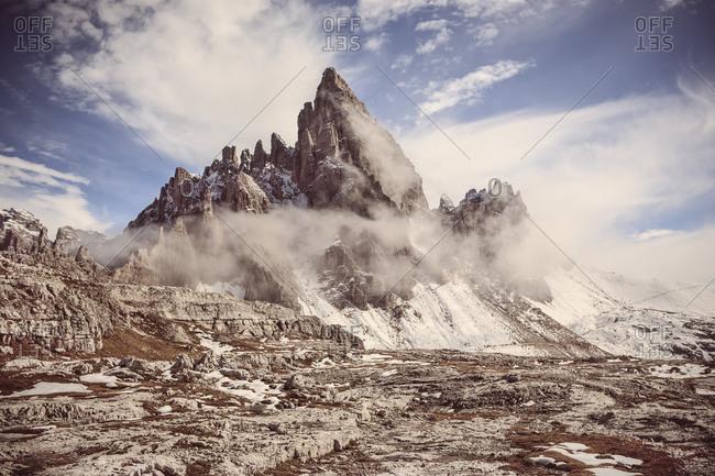 Italy, Dolomite Alps, Tre Cime di Lavaredo