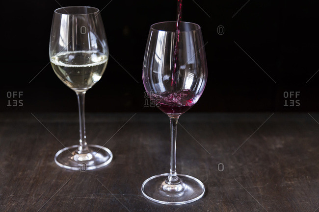 Red and white wine by the glass