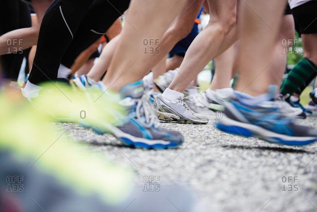 Shoes of marathon runner