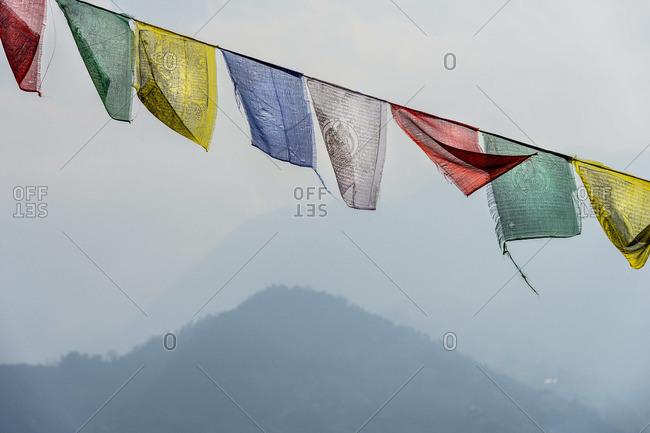 Buddhist prayer flags in Namo Buddha, Nepal