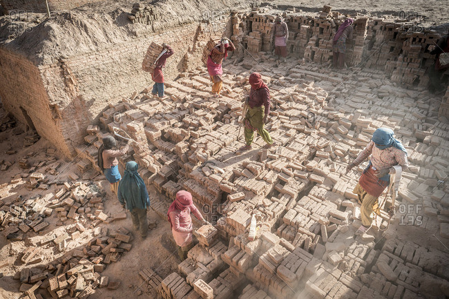 March 24, 2013: Workers at a Brick Factory, Nepal