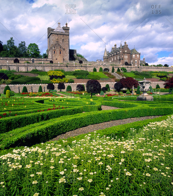 Drummond Castle & gardens near Crief, Perthshire