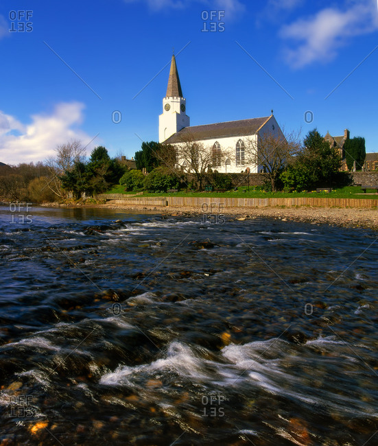 The White Church, Comrie, River Earn, Perthshire