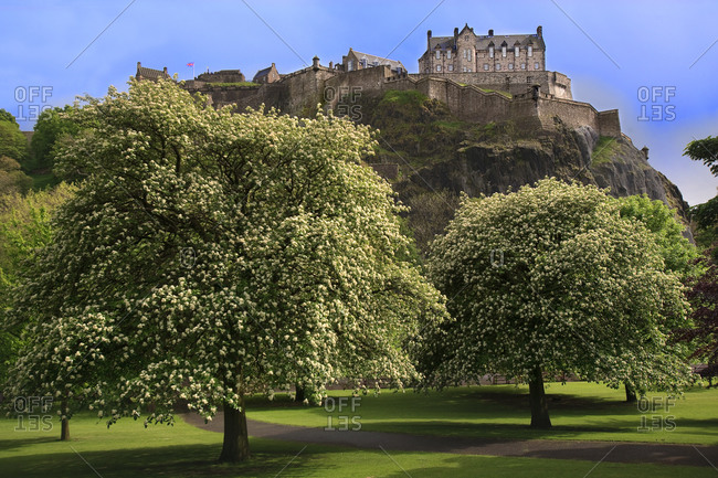 Edinburgh Castle from Princes Street gardens, Edinburgh, Scotland